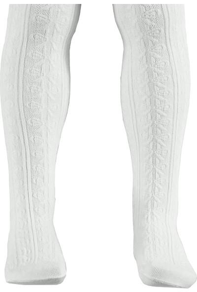 Bella Calze Kız Çocuk Külotlu Çorap 2-13 Yaş Beyaz