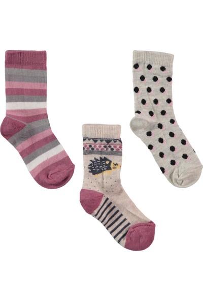 Civil Girls Kız Çocuk 3'lü Çorap Set 2-12 Yaş Bej