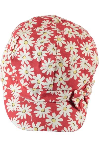 Prahar Kız Çocuk Şapka 6-9 Yaş Kırmızı