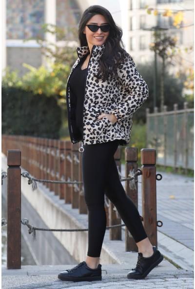Açelya Okcu Fashion Parlak Push Up Siyah Tayt