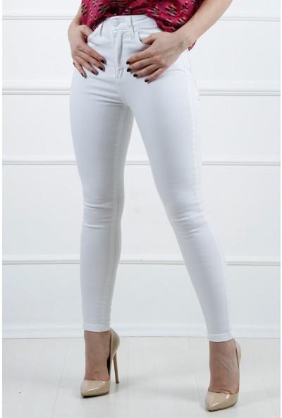 Açelya Okcu Fashion Beyaz Kot Pantolon