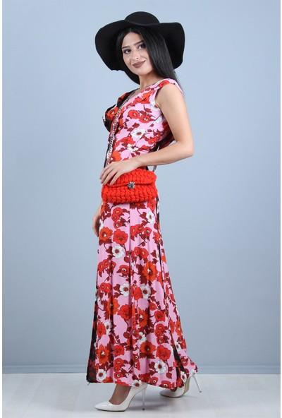 Açelya Okcu Fashion Çiçek Zinciri Elbise