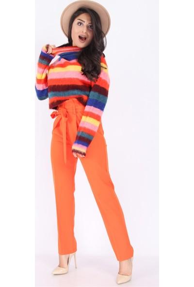 Açelya Okcu Fashion Bağcıklı Havuç Pantolon