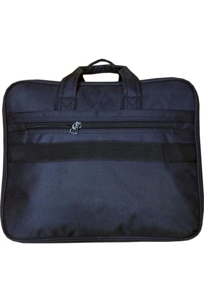 Kingstone 2076 Özel Üretim Battal Boy Körüklü Evrak Laptop Çantası Siyah