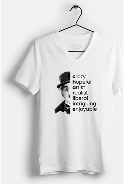 Tshigo Chaplin's Life Baskılı Kadın T-Shirt