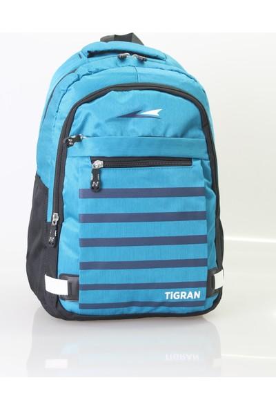 Tigran Kumaş Sırt Çantası Mavi
