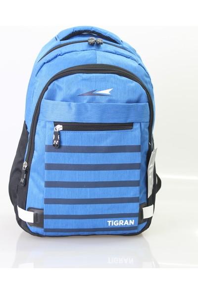 Tigran Kumaş Sırt Çantası Saks Mavi