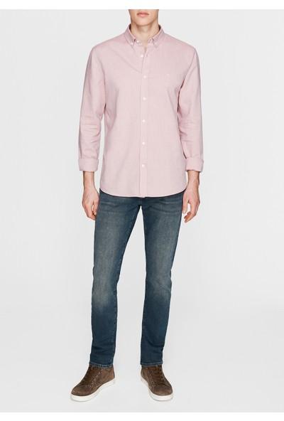 Mavi Cepsiz Pembe Gömlek