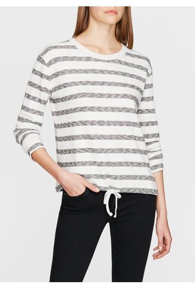 Gri Beyaz Çizgili Tişört 167672-28289
