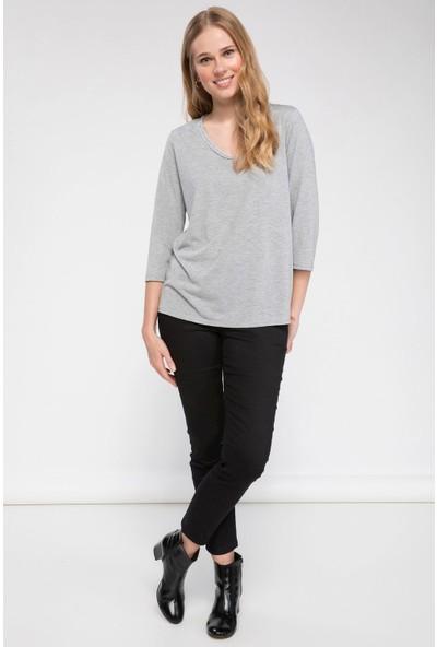 Defacto Kadın V Yakalı Uzun Kollu T-Shirt