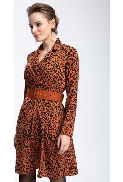 Defacto Kadın Baskılı Uzun Elbise