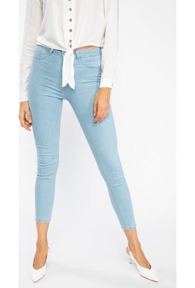 Defacto Kadın Anna Yüksek Bel Super Skinny Fit Denim Pantolon