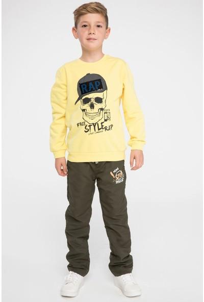 Defacto Erkek Çocuk Polar Astarlı Pantolon