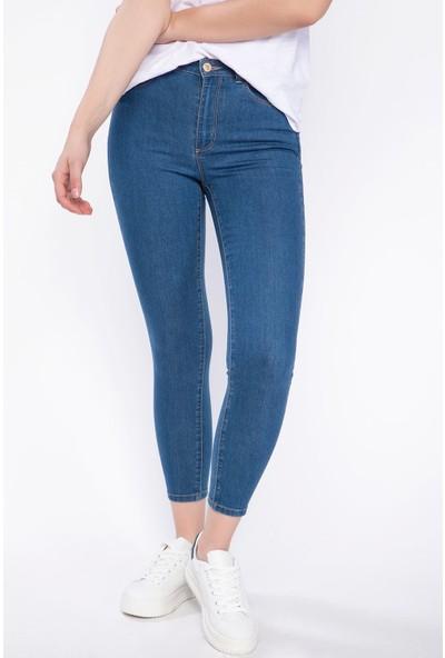 Defacto Kadın Anna Yüksek Bel Denim Pantolon
