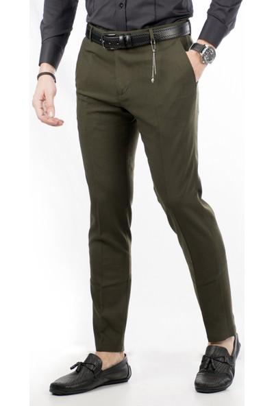 Deepsea Haki İtalyan Kesim Kalın Kumaş Kışlık Erkek Spor Pantolon 1801008