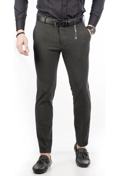 Deepsea Antrasit İtalyan Kesim Kalın Kumaş Kışlık Erkek Spor Pantolon 1801008