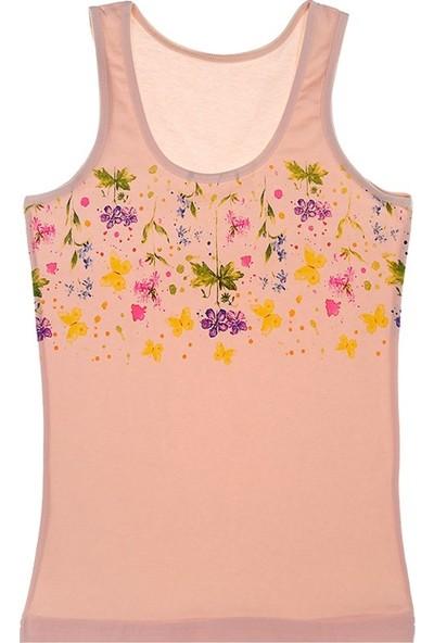 Donella Renkli Çiçekli Kız Çocuk Atlet - 4371XBCS