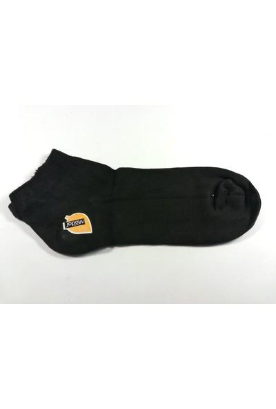 Doliche Erkek Modal Spor Patik Gümüş Çorap-6 Çift Birden