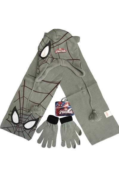 Spiderman Atkı Bere Eldiven Seti - 5511
