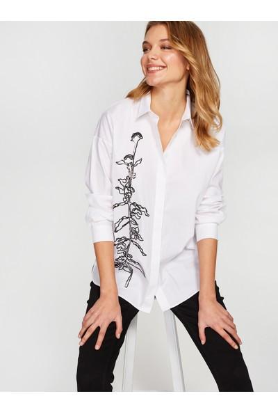 Faik Sönmez Payet İşlemeli Gömlek 38395