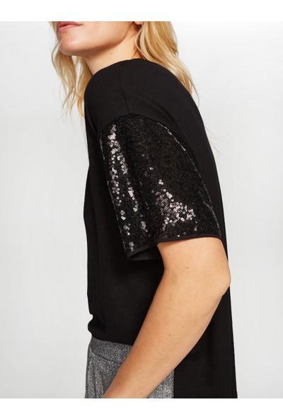 Faik Sönmez Payetli T-Shirt 38768