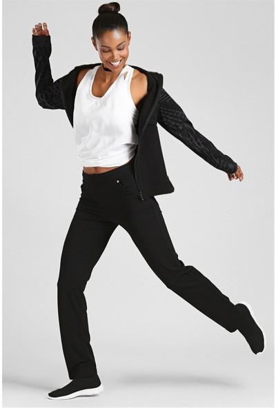 Tommy Life Siyah Kadın Pantolon Eşofman Alt