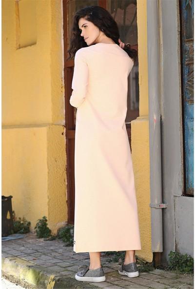 Tommy Life Yırtmaçlı Cep Detaylı Somon Kadın Spor Elbise