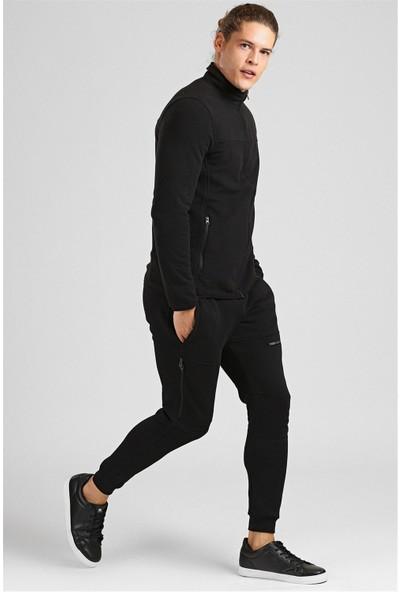 Tommy Life Yakalı Polar Siyah Erkek Sweatshirt