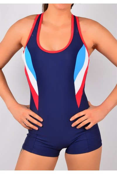 Pemilo Bayan Yüzücü Mayo Lacivert