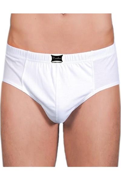 Tutku Erkek Slip Külot Beyaz 12 Li Paket