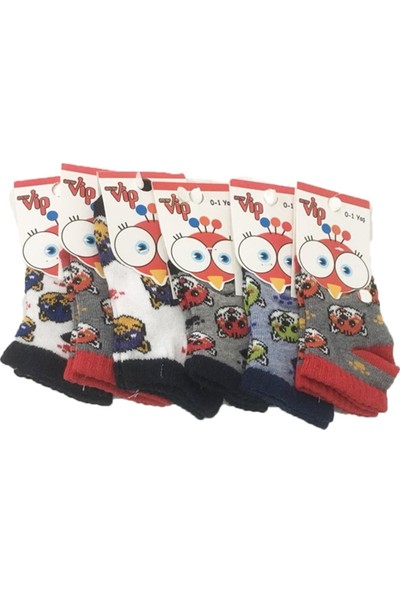 Ertuğ Anne & Bebek Erkek Bebek Kısa Patik Çorap Asorti 6 Lı Paket