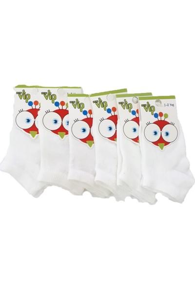 Ertuğ Anne & Bebek Erkek Bebek Kısa Patik Çorap Beyaz 6 Lı Paket