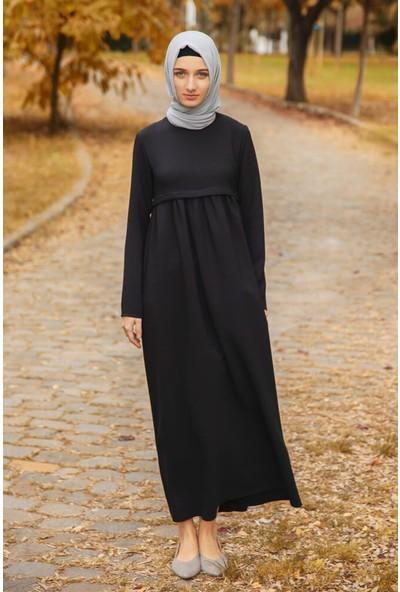 Abacı Siyah Elbise 12581-A197