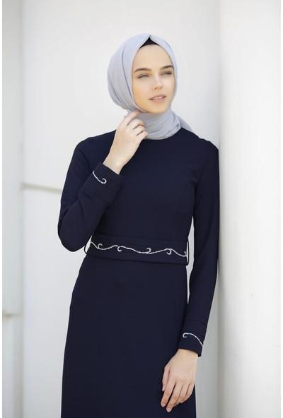 Abacı Lacivert Elbise 12428-A113