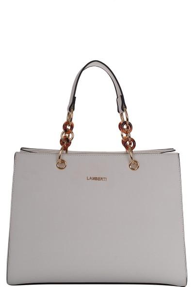 Lamberti 7015 Halkalı Kadın El Çantası Beyaz