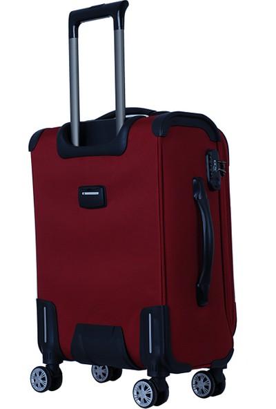 Ççs 5150 Kumaş Valiz Seti Kırmızı