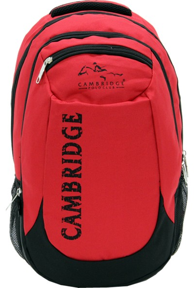 Cambridge Polo Club Okul & Sırt Çantası Kırmızı