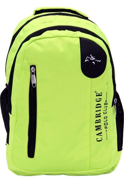 Cambridge Polo Club Plcan1653 Okul Sırt Çantası Yeşil