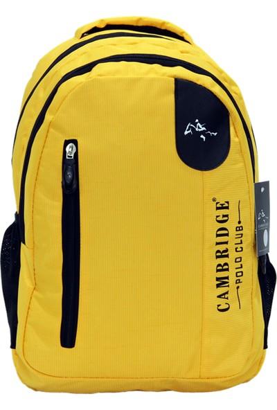 Cambridge Polo Club Plcan1653 Okul Sırt Çantası Sarı