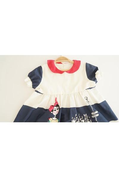 Alysrababy Bebe Yaka Lacivert - Beyaz Kırmızı Bant
