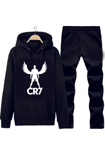 Art T-Shirt Cr7 Ronaldo Wings Kapüşonlu Eşofman Takımı