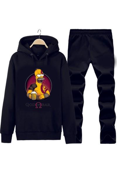 Art T-Shirt God Of Bar Kapüşonlu Eşofman Takımı