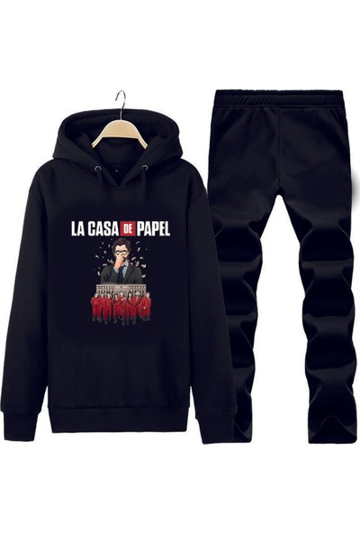 Art T-Shirt La Casa De Papael Kapüşonlu Eşofman Takımı