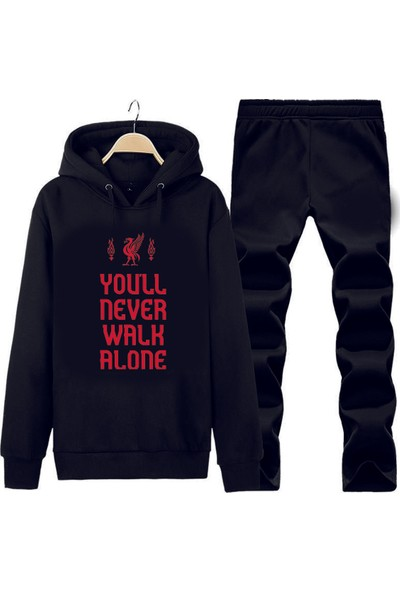 Art T-Shirt Liverpool Slogan Kapüşonlu Eşofman Takımı