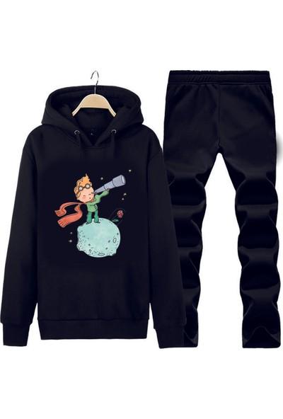 Art T-Shirt Küçük Prens Gözlem Kapüşonlu Eşofman Takımı