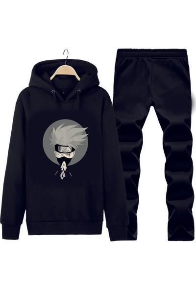 Art T-Shirt Naruto Anime Kapüşonlu Eşofman Takımı