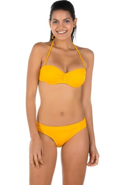 Miramar Kadın Bikini Takımı Dolu Kap Sarı 9764
