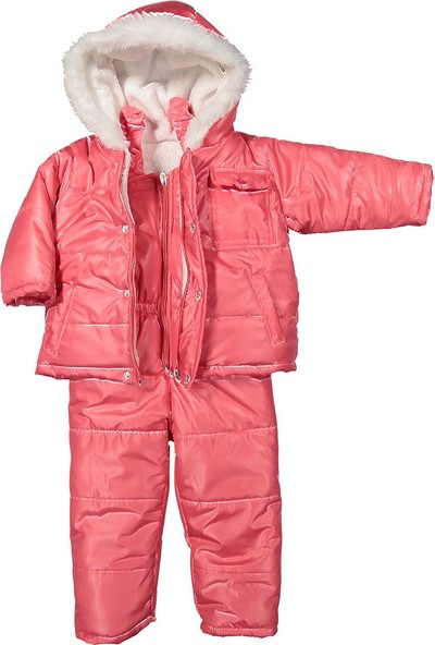 Coppa Kız Çocuk Kar Tulumu Kozmonot Mont 1-4 Yaş 7084