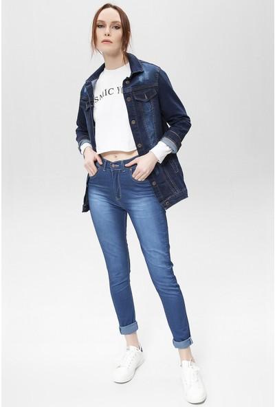 New Laviva Kot Kadın Pantolon
