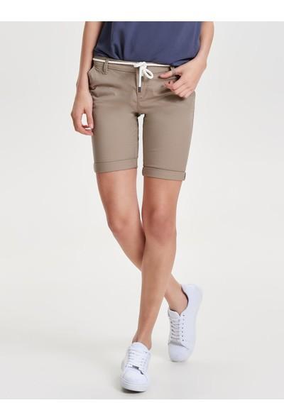 Only 15134356 Kadın Parıs L Long Chı Belt Shorts Pnt Noos Şort Desert Taupe
